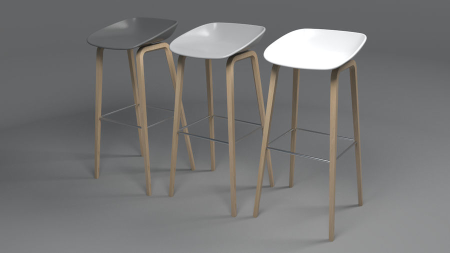 Bar Stool royalty-free 3d model - Preview no. 5