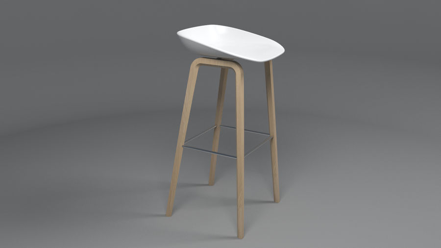 Bar Stool royalty-free 3d model - Preview no. 1