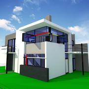 Schroder Modern House 3d model