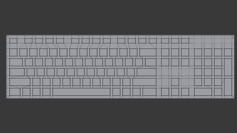 Computer Tastatur royalty-free 3d model - Preview no. 8