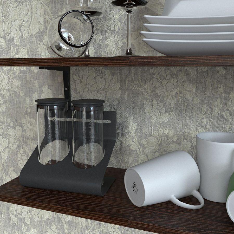 Ikea kitchen Bowls & Plates Set royalty-free 3d model - Preview no. 6