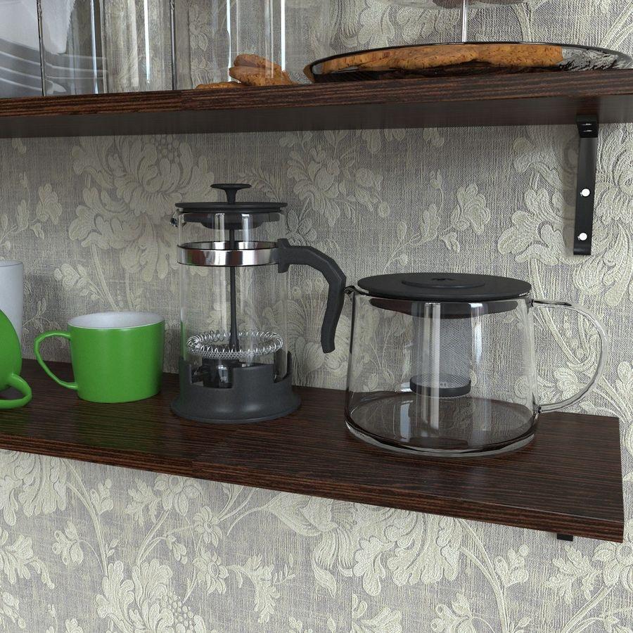 Ikea kitchen Bowls & Plates Set royalty-free 3d model - Preview no. 5