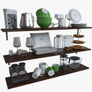 Ikea kitchen Bowls & Plates Set 3d model