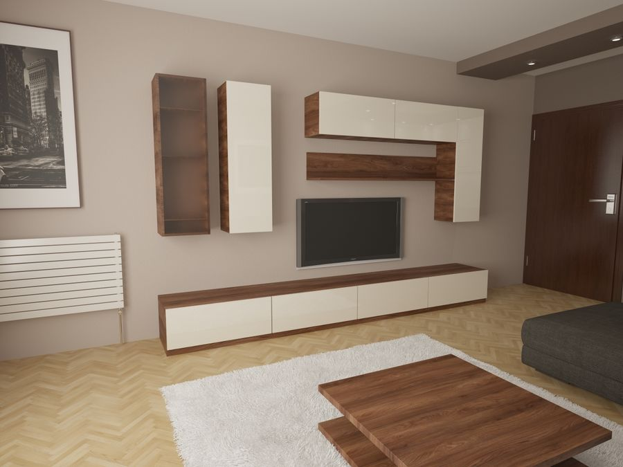 Interior moderno royalty-free modelo 3d - Preview no. 5