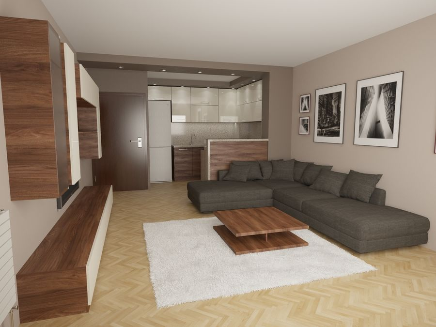 Interior moderno royalty-free modelo 3d - Preview no. 7