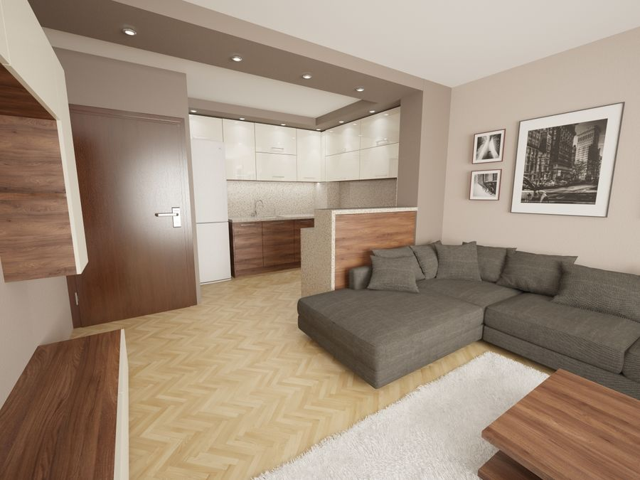 Interior moderno royalty-free modelo 3d - Preview no. 1