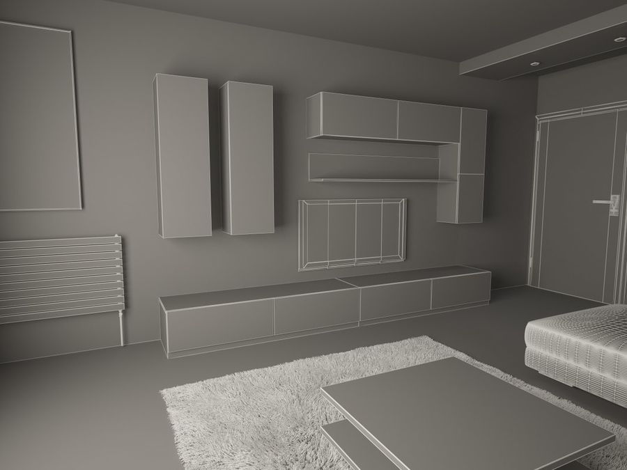 Interior moderno royalty-free modelo 3d - Preview no. 6