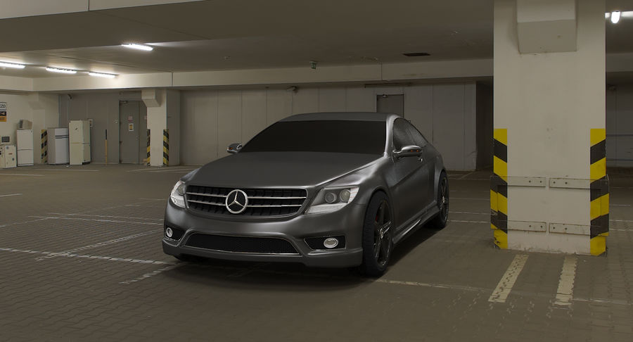 Mercedes Benz CL 65 royalty-free 3d model - Preview no. 7