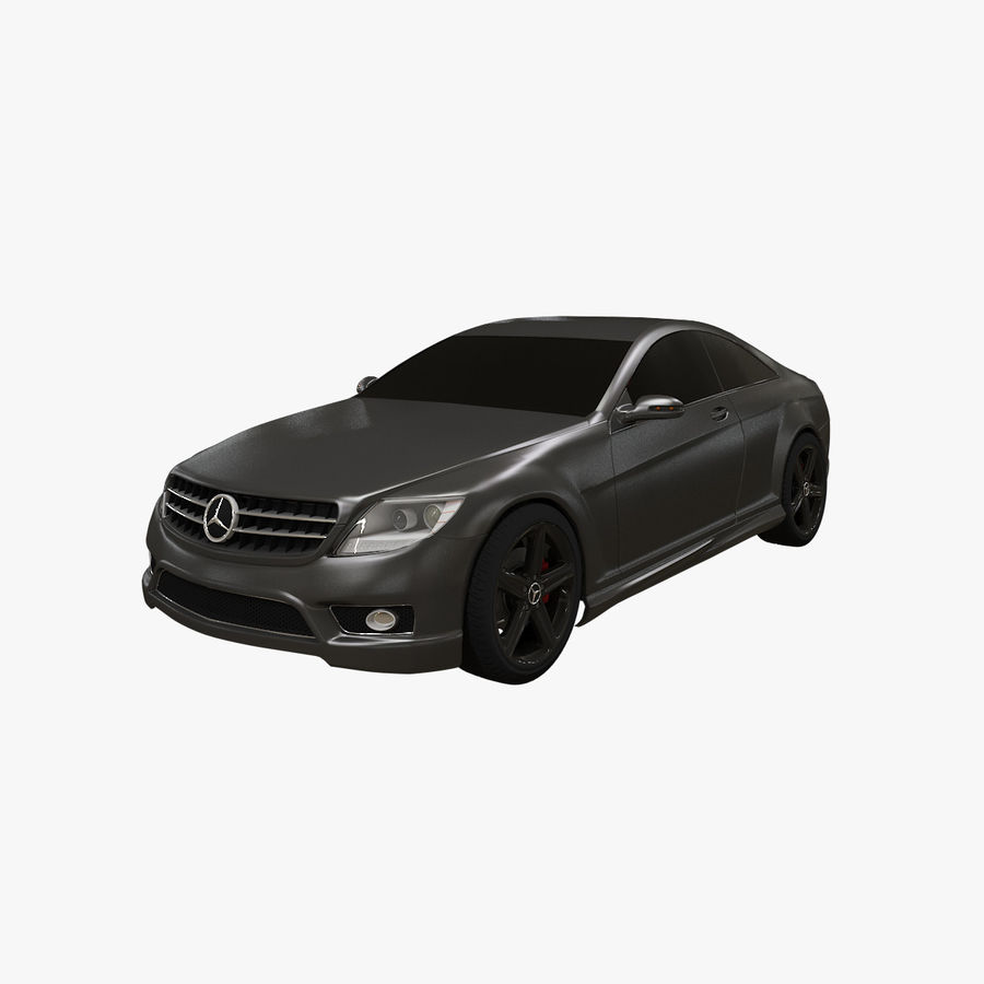 Mercedes Benz CL 65 royalty-free 3d model - Preview no. 1