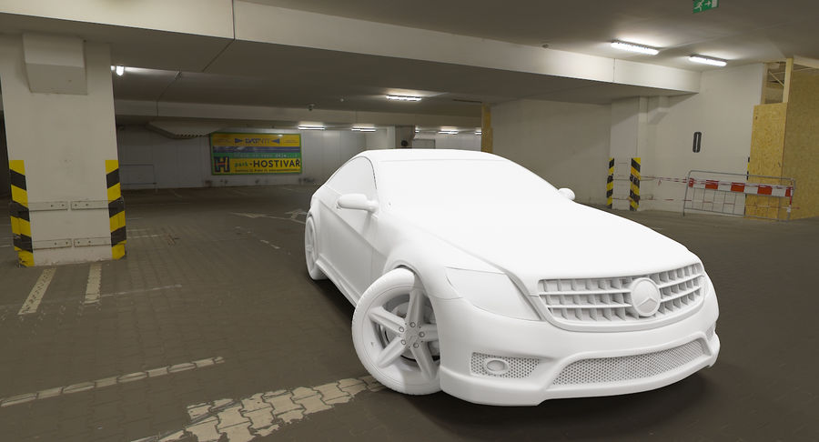 Mercedes Benz CL 65 royalty-free 3d model - Preview no. 4