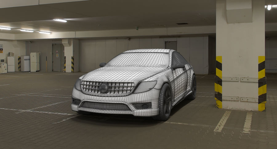 Mercedes Benz CL 65 royalty-free 3d model - Preview no. 8