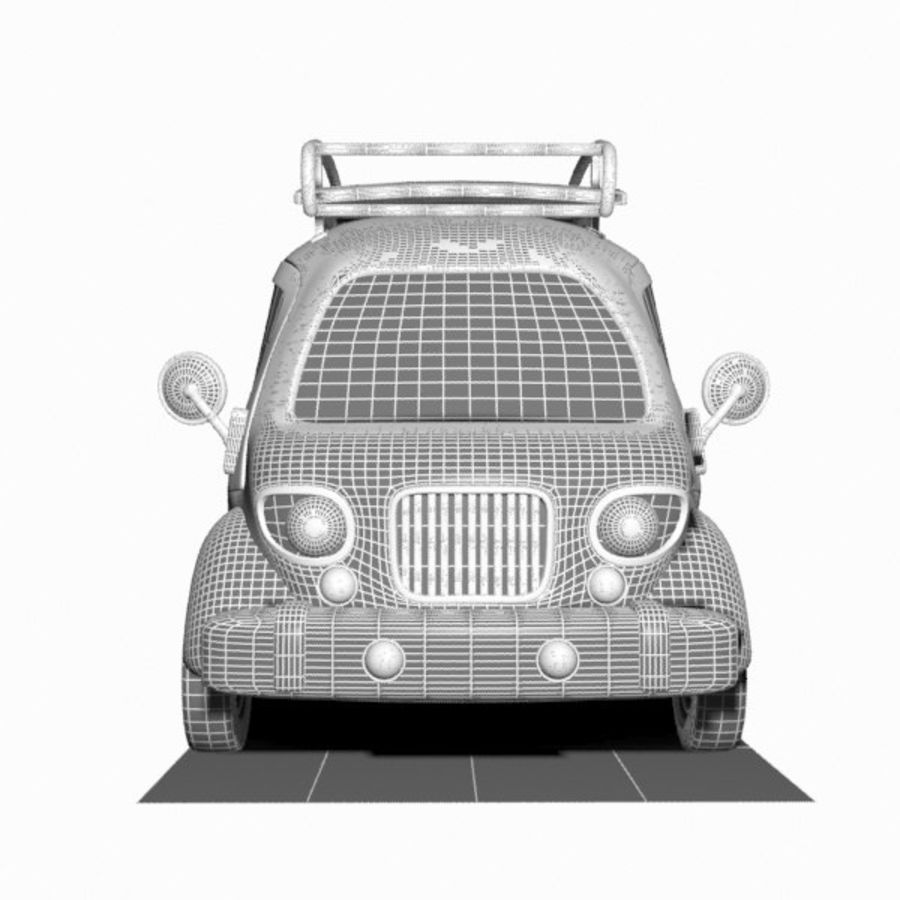 Toon Travel Car royalty-free 3d model - Preview no. 12