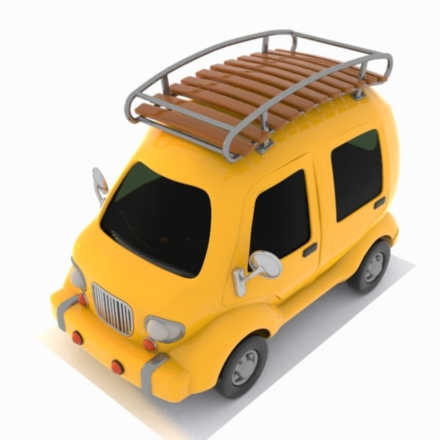 Toon Travel Car royalty-free 3d model - Preview no. 3