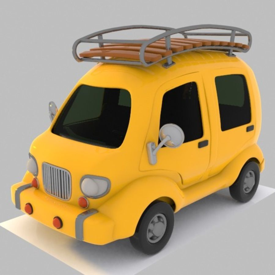 Toon Travel Car royalty-free 3d model - Preview no. 2