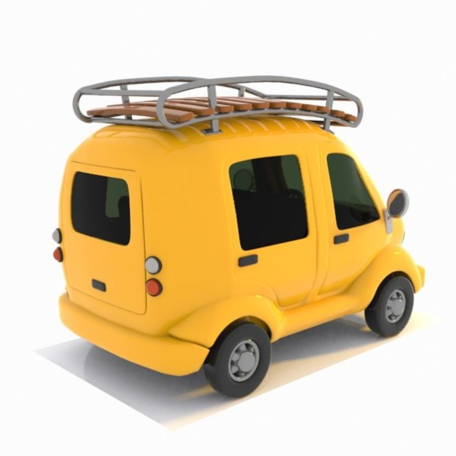 Toon Travel Car royalty-free 3d model - Preview no. 7