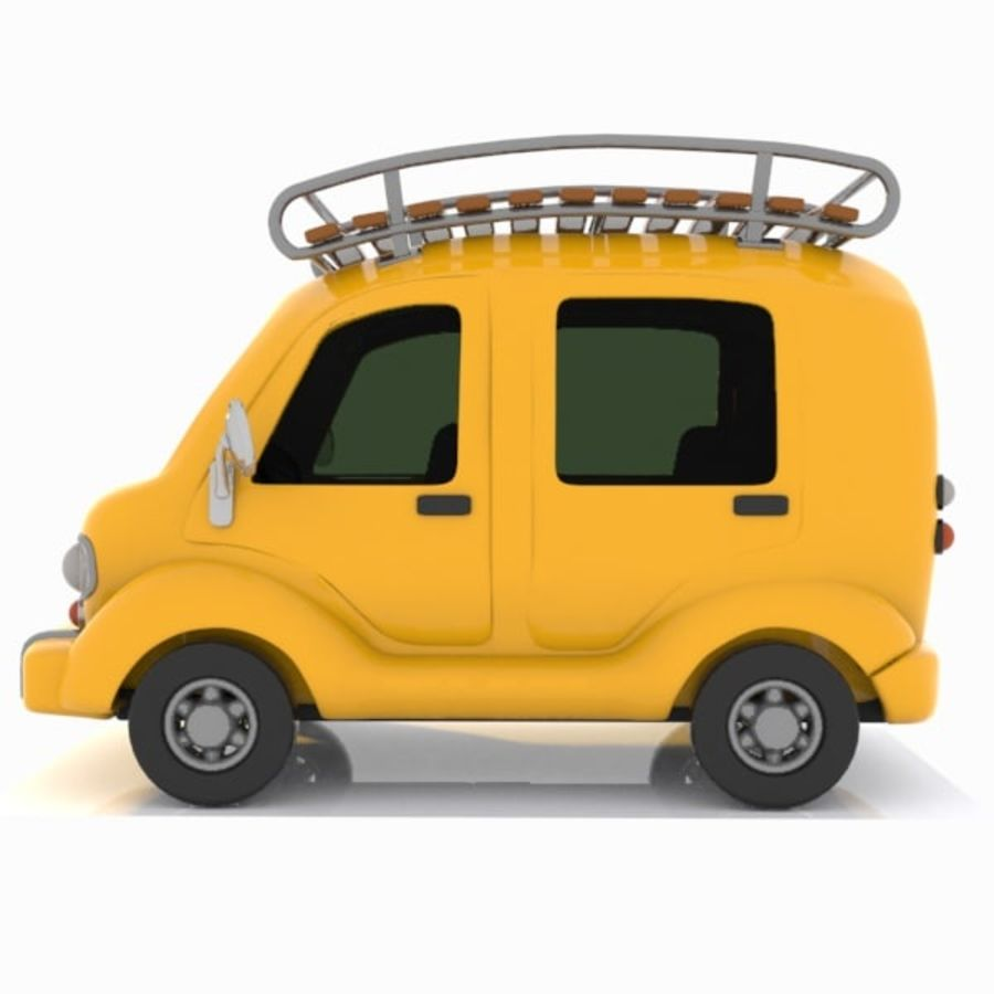 Toon Travel Car royalty-free 3d model - Preview no. 5