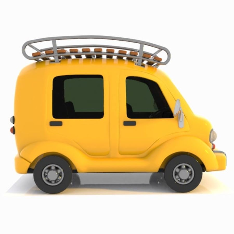 Toon Travel Car royalty-free 3d model - Preview no. 8