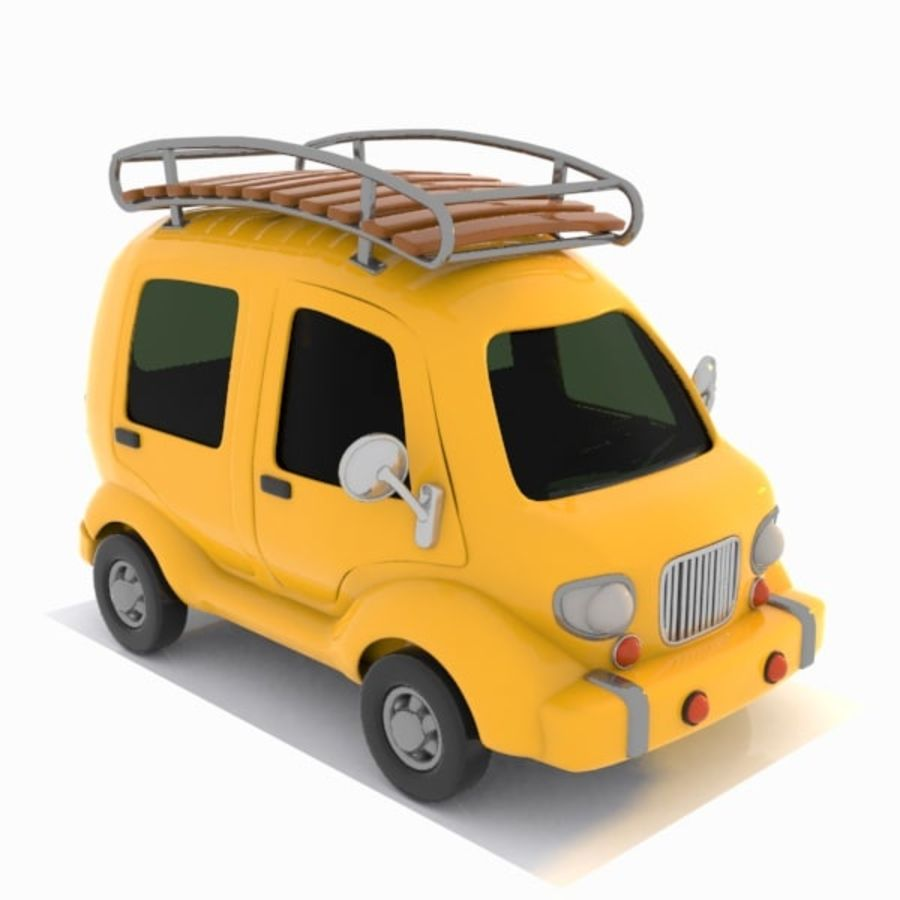 Toon Travel Car royalty-free 3d model - Preview no. 9