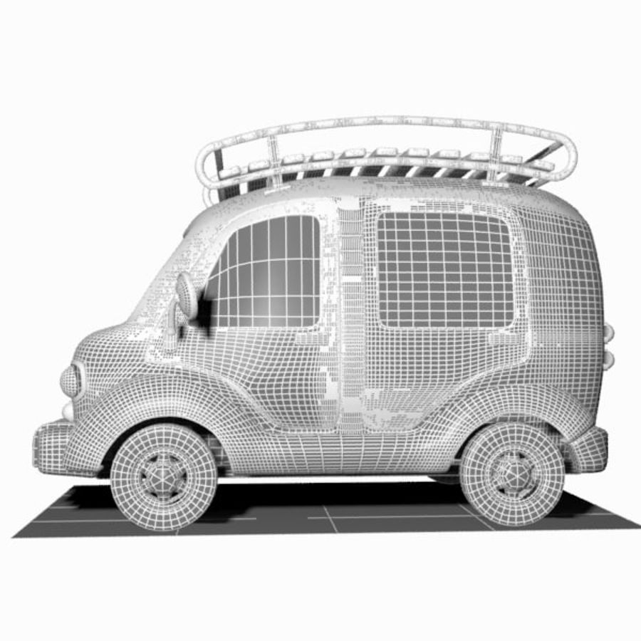 Toon Travel Car royalty-free 3d model - Preview no. 14