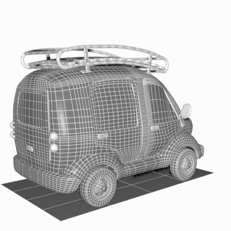 Toon Travel Car royalty-free 3d model - Preview no. 17
