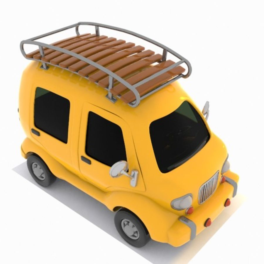 Toon Travel Car royalty-free 3d model - Preview no. 10