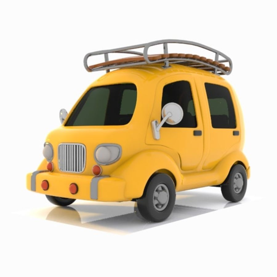 Toon Travel Car royalty-free 3d model - Preview no. 4