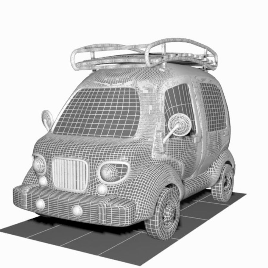 Toon Travel Car royalty-free 3d model - Preview no. 13