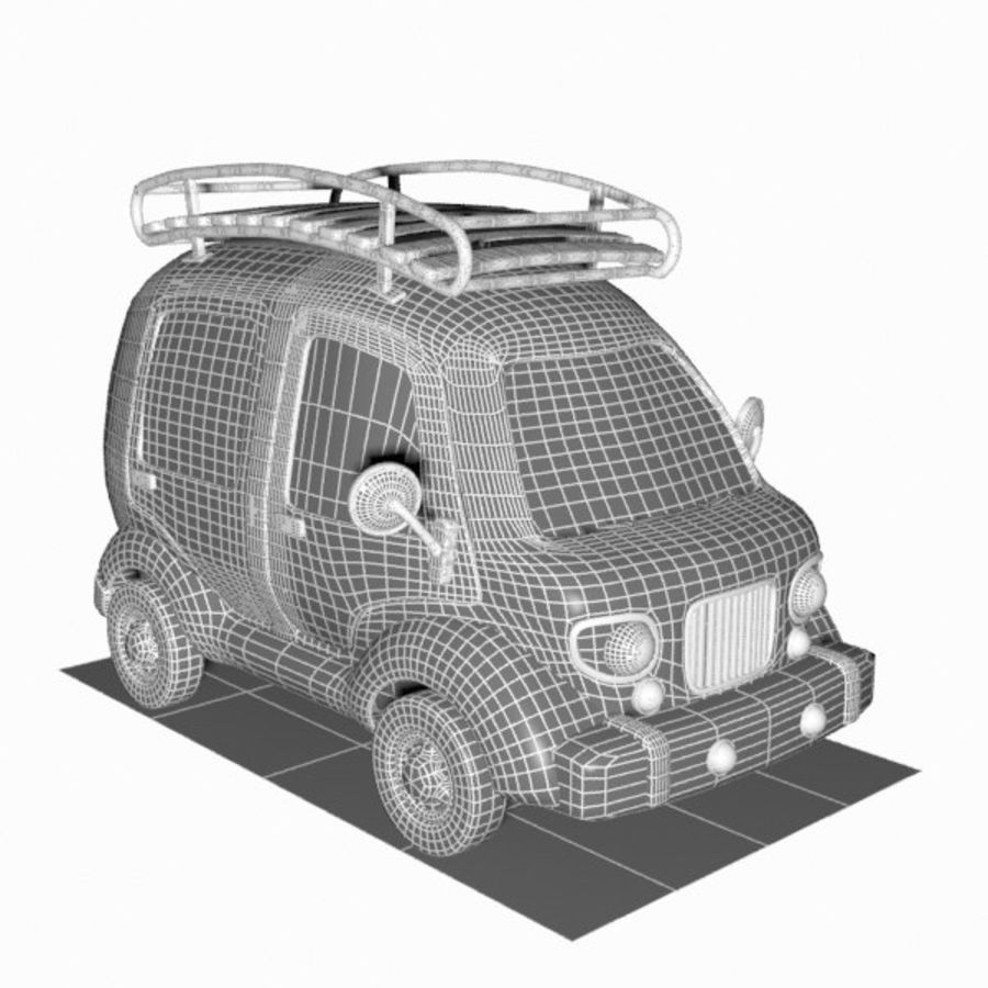 Toon Travel Car royalty-free 3d model - Preview no. 18