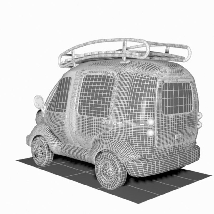 Toon Travel Car royalty-free 3d model - Preview no. 15