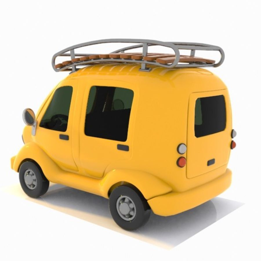 Toon Travel Car royalty-free 3d model - Preview no. 6