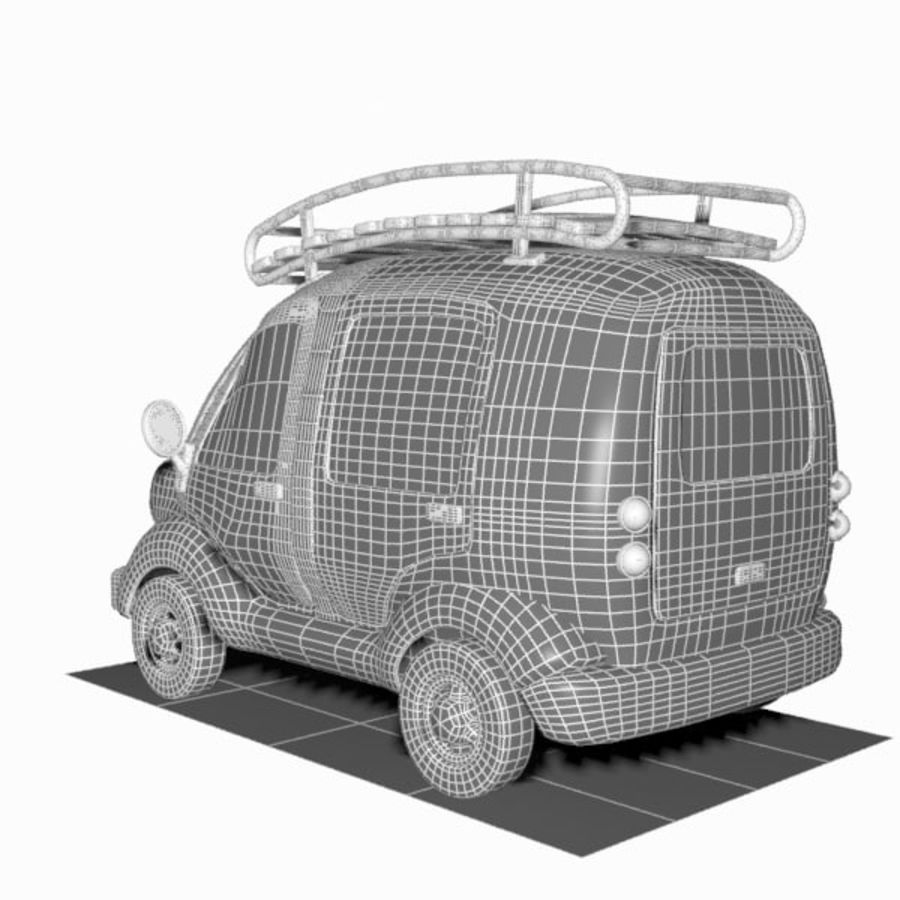 Toon Travel Car royalty-free 3d model - Preview no. 16