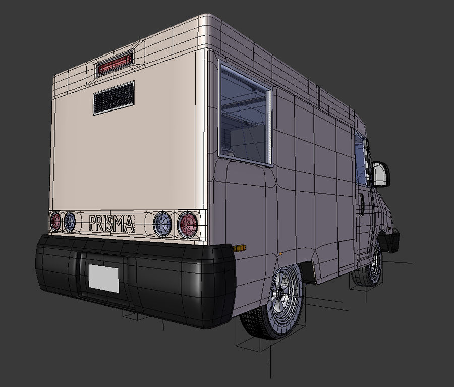 Food Truck royalty-free 3d model - Preview no. 5