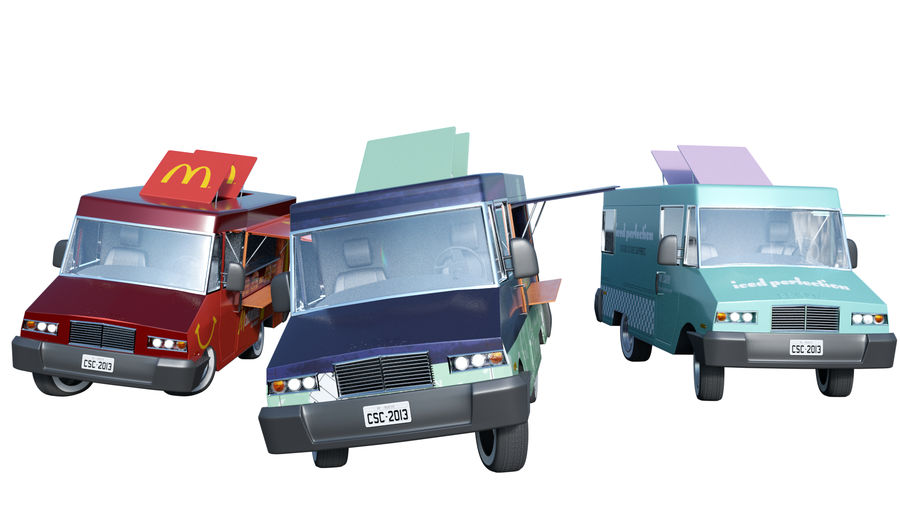 Food Truck royalty-free 3d model - Preview no. 1
