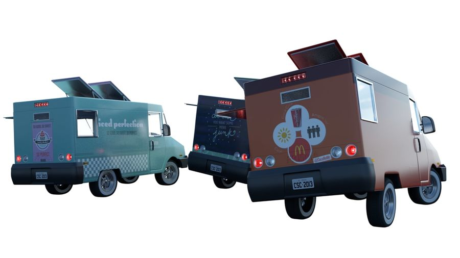 Food Truck royalty-free 3d model - Preview no. 2