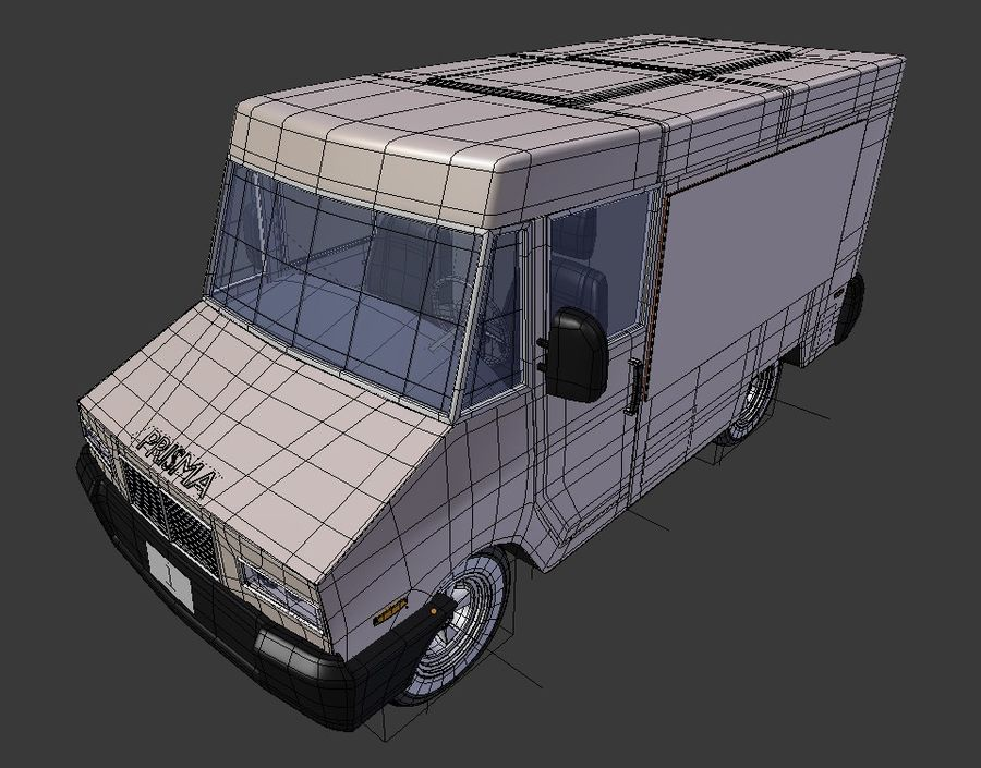 Food Truck royalty-free 3d model - Preview no. 4