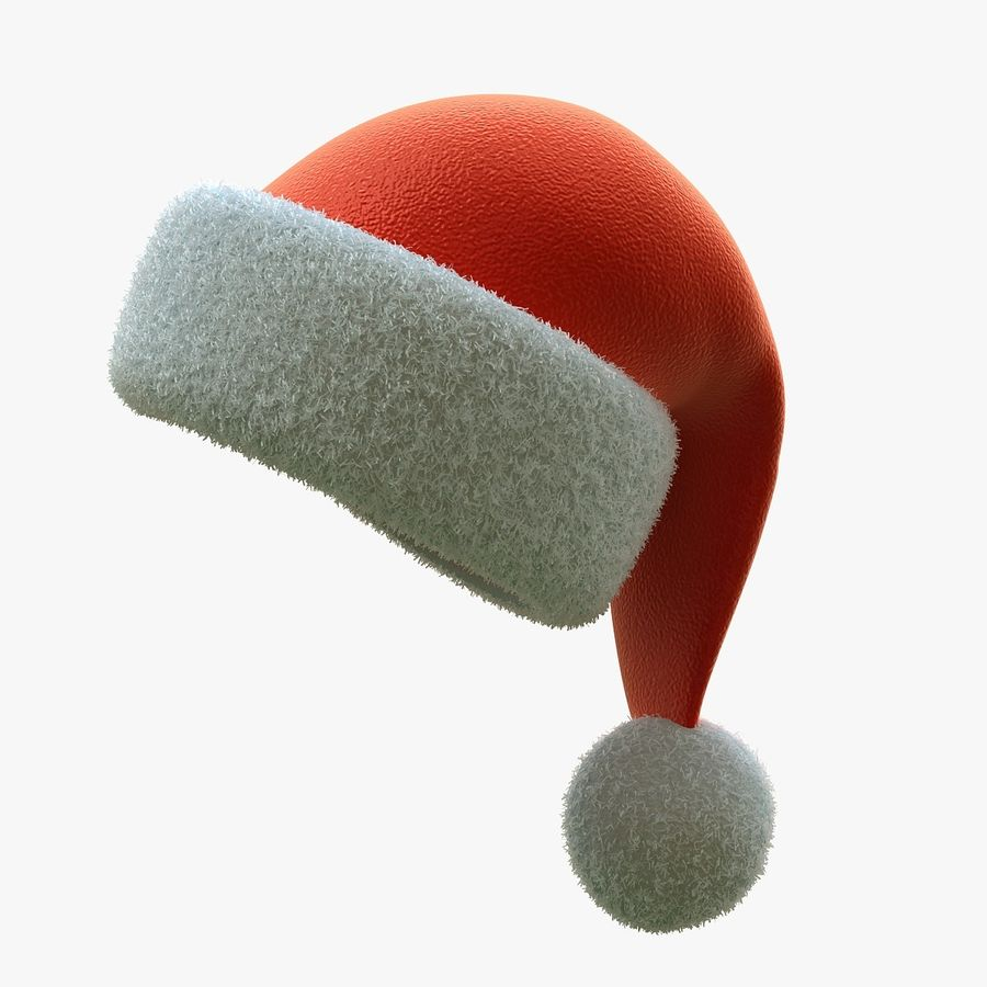 Santa Hat royalty-free 3d model - Preview no. 3