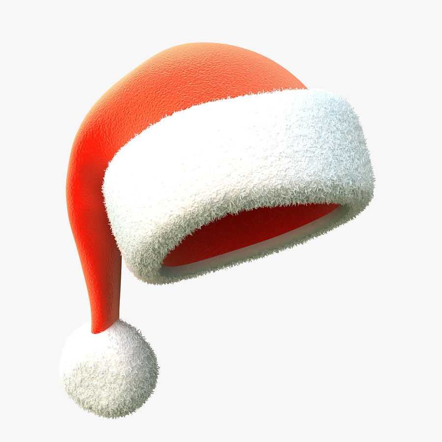 Santa Hat royalty-free 3d model - Preview no. 1