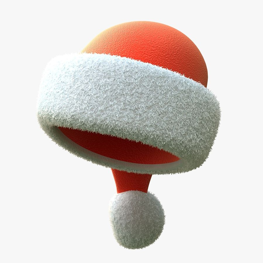 Santa Hat royalty-free 3d model - Preview no. 2