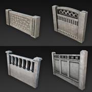 Coleção de Cercas de Concreto 3d model