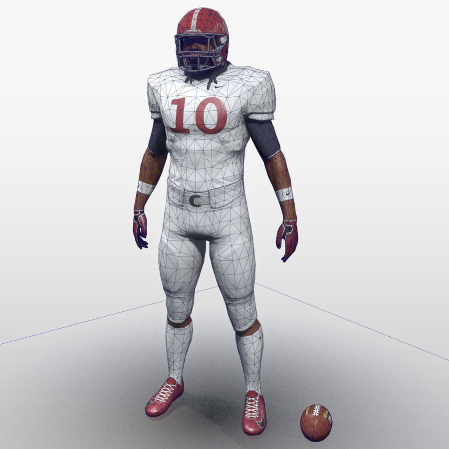Football Player full Project royalty-free 3d model - Preview no. 3