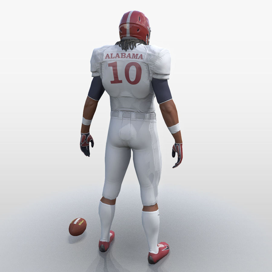 Football Player full Project royalty-free 3d model - Preview no. 4
