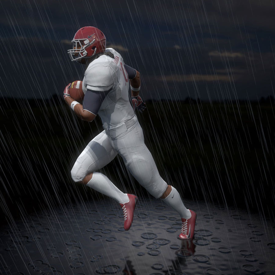 Football Player full Project royalty-free 3d model - Preview no. 8