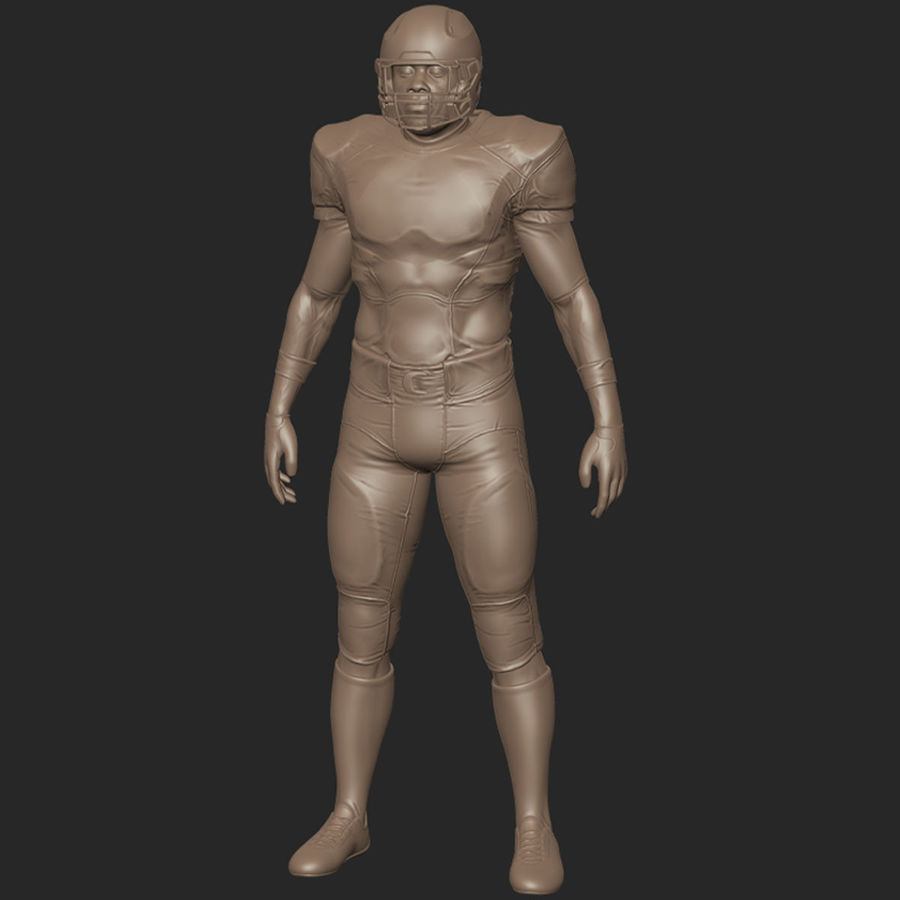 Football Player full Project royalty-free 3d model - Preview no. 10