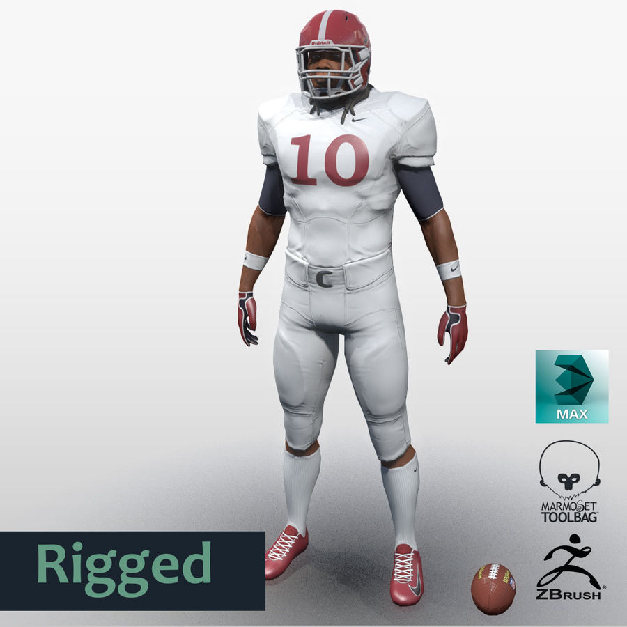 Football Player full Project royalty-free 3d model - Preview no. 1
