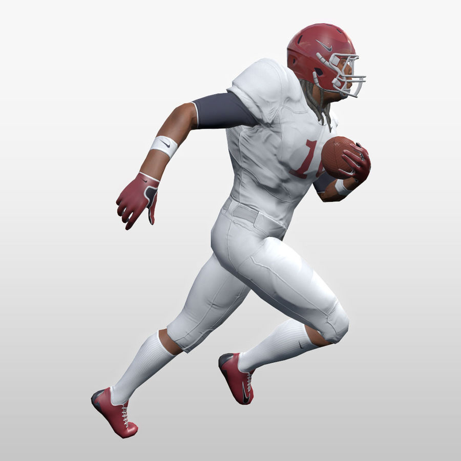 Football Player full Project royalty-free 3d model - Preview no. 14
