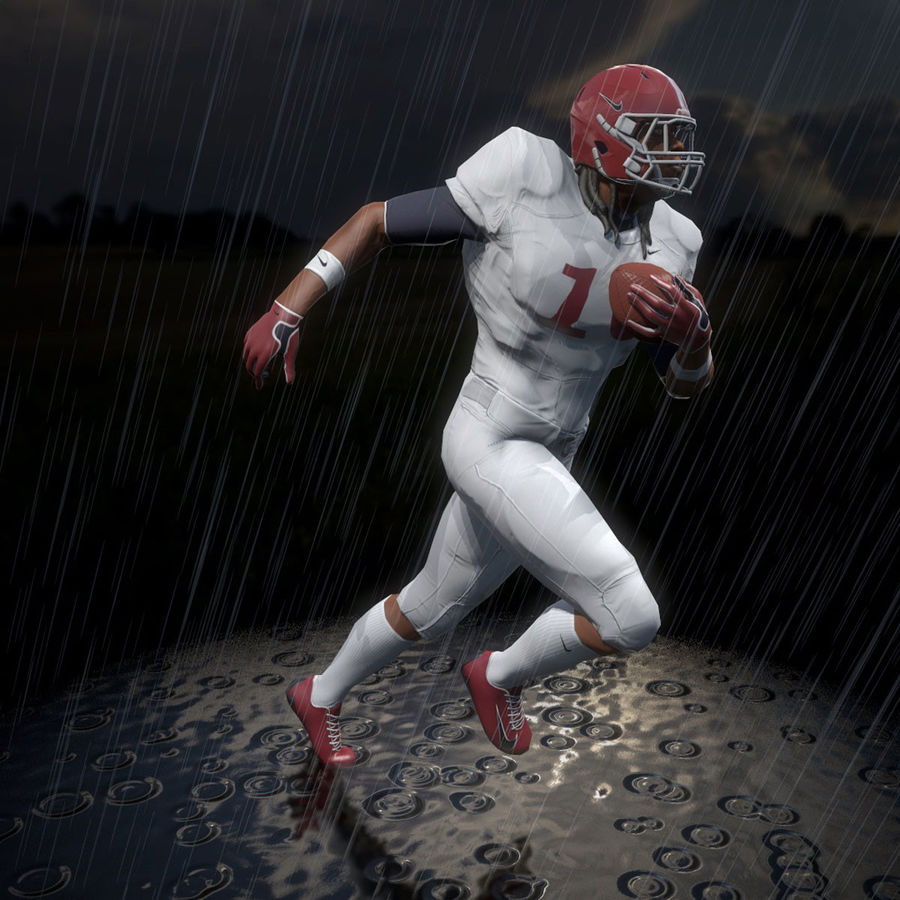 Football Player full Project royalty-free 3d model - Preview no. 7