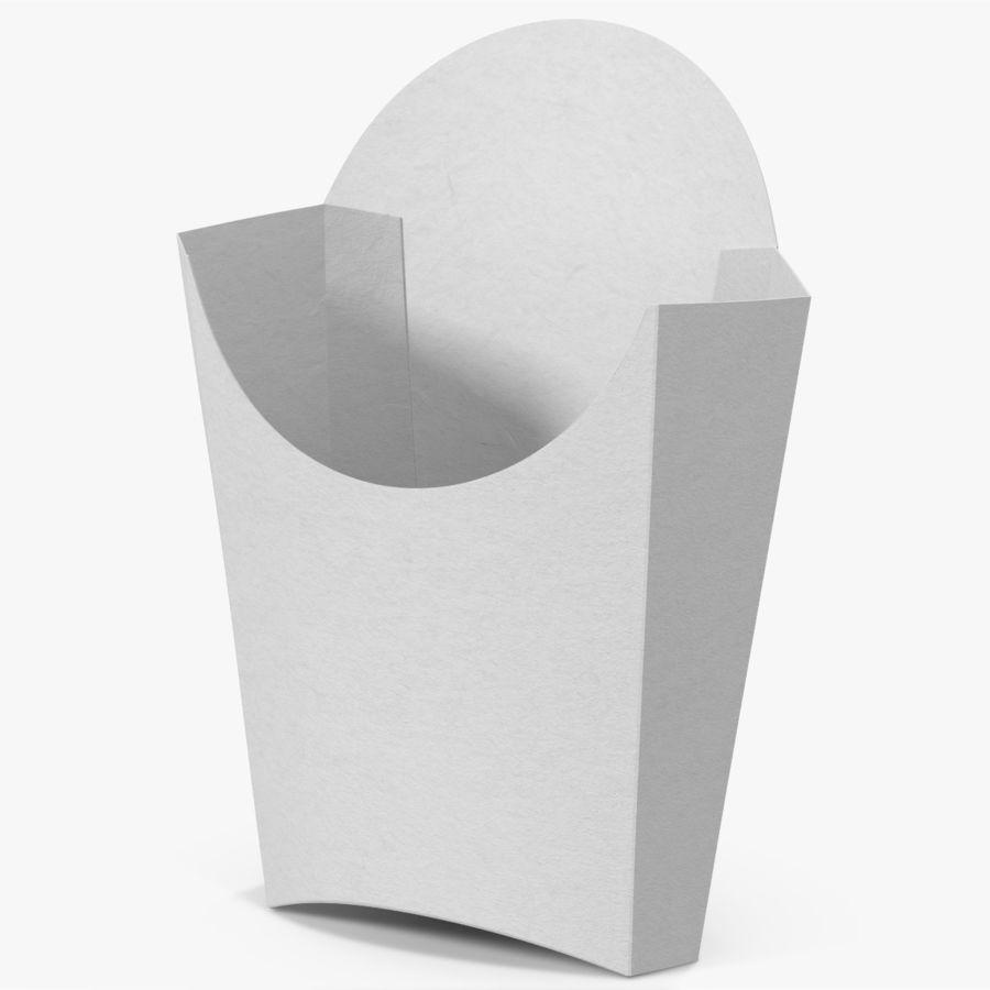 French Fry Box Empty 3D Model $19 - .obj .fbx .max - Free3D