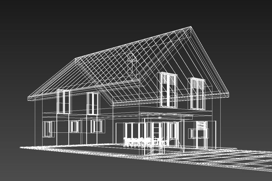 House royalty-free 3d model - Preview no. 8
