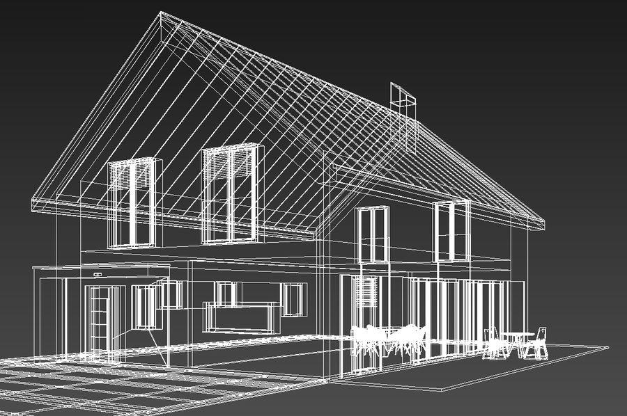 House 3d Model 14 Dxf Dwg Obj 3ds Max Free3d