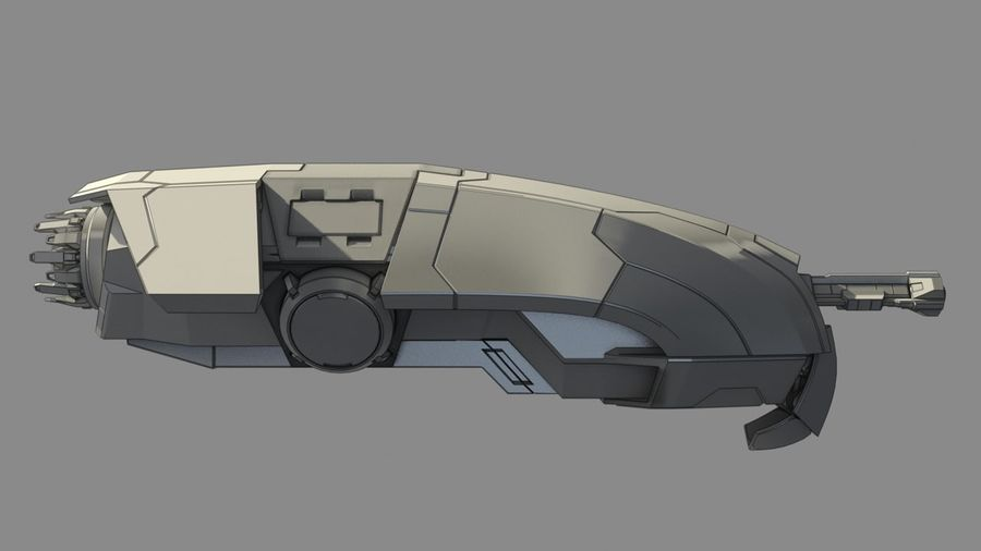 Space fighter royalty-free 3d model - Preview no. 2